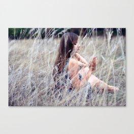 Through the Grass Canvas Print