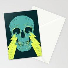 Lightning Skull Stationery Cards