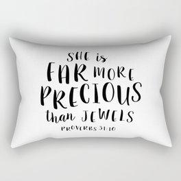 More Precious Than Jewels Rectangular Pillow