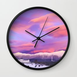 Mount Washington & Mount Washington Grand Hotel at Sunset, White Mountains, New Hampshire Wall Clock