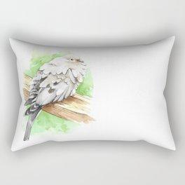 Watercolor Mourning Dove Bird Rectangular Pillow