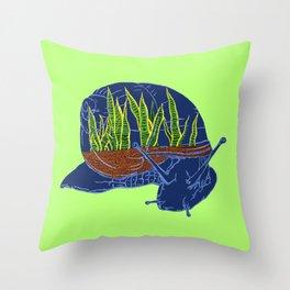 Snail Terrarium 2 Throw Pillow