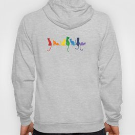 Catch A Rainbow - Cats on a Wall Hoody