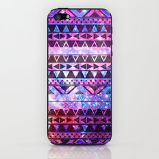 Head In Space | Girly Andes Aztec Pattern Pink Teal Nebula Galaxy iPhone & iPod Skin