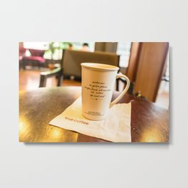 Escape with Coffee, Vientiane, Laos Metal Print