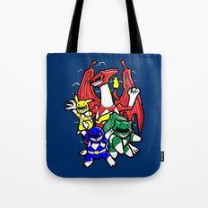Might Morphing Poke'Rangers Tote Bag