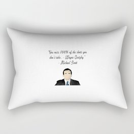 Office quote of a quote  Rectangular Pillow