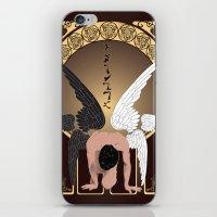 castiel iPhone & iPod Skins featuring Castiel by Lauren Spooner