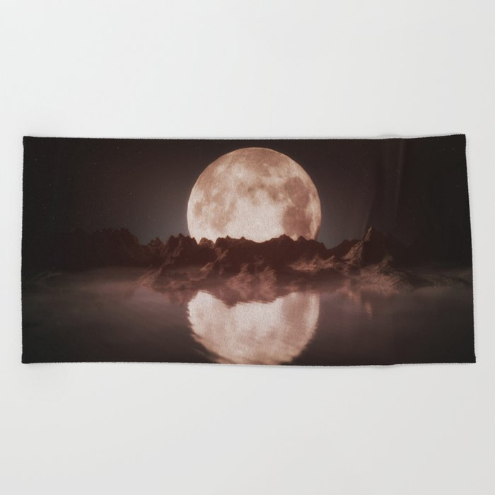 Misty Moon Beach Towel