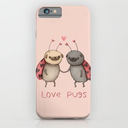 Love Pugs iPhone Case