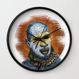 African Warrior Wall Clock