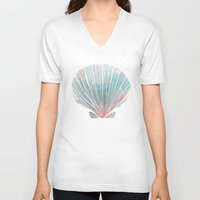 ghost in the shell V-neck T-shirts featuring Shell by Adara Sánchez Anguiano