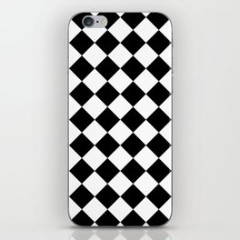 Contemporary Black & White Gingham Pattern - Mix and Match iPhone Skin