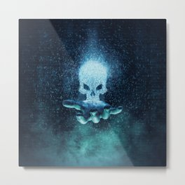 Binary Oblivion Metal Print