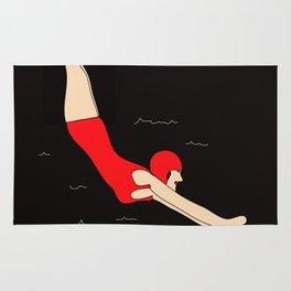 Vintage Swimmer Rug
