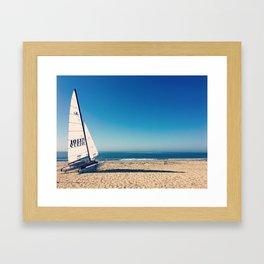 Beached Sailboat Framed Art Print