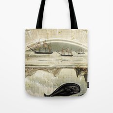 paper II :: whales/ships Tote Bag