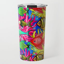Fish Cute Colorful Doodles Travel Mug