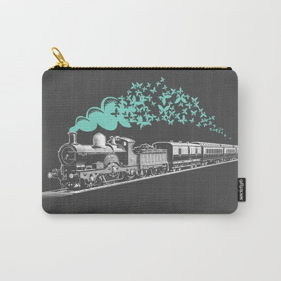 Butterfly Train Carry-All Pouch