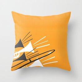 Brass Instruments Throw Pillow