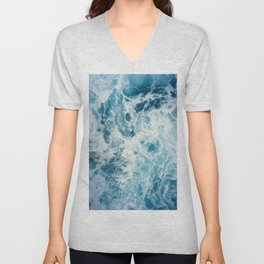 Rough Sea - Ocean Photography Unisex V-Neck