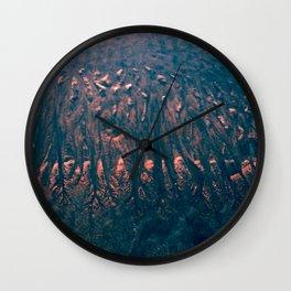 Blue Sand Wall Clock