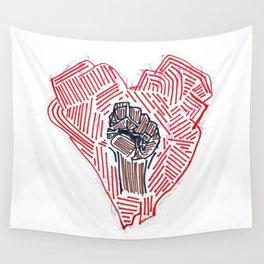 Untitled (Heart Fist) Wall Tapestry