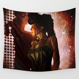 Wonderful steampunk lady Wall Tapestry