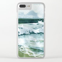 Waves 1 Clear iPhone Case