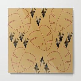 Abstract Palms Metal Print