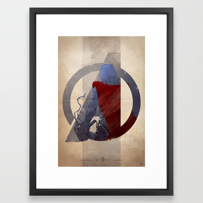 Avengers Assembled: The Myth Framed Art Print by anthonygenuardi ...