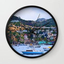"""Catalina Harbor""/ ""Time"" Wall Clock"
