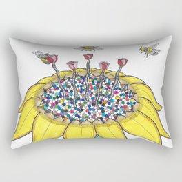 Bees at Work Rectangular Pillow