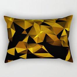 Gold Triangle pattern Rectangular Pillow