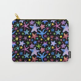 Rainbow Watercolor Starfish Pattern Carry-All Pouch