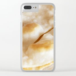 Bread background Clear iPhone Case