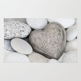 Stone Heart and pebble greige tones Rug