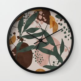 Abstract nature painting 89 Wall Clock