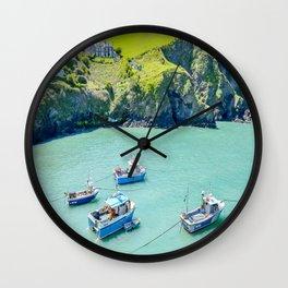 Port Isaac - Moored Boats Wall Clock