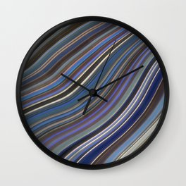 Wild Wavy Lines 40 Wall Clock