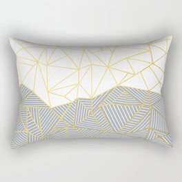 Ab Half and Half Grey Rectangular Pillow