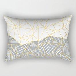 Ab Half and Half Grey Rectangular Pillow
