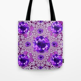 Amethyst Purple Gems February Birthstones Tote Bag
