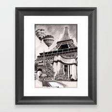 French Collage v2 Framed Art Print