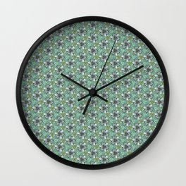 blue and yellow Wall Clock