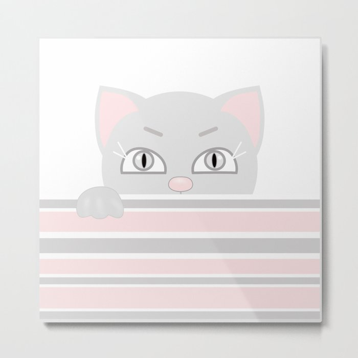 Small kitten. Metal Print