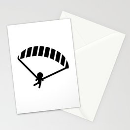 Parachuting Stickman Stationery Cards