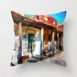 Wild West Ghost Town Arizona Throw Pillow