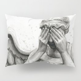 Weeping Angel Watercolor Painting Pillow Sham