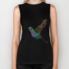 Abstract Hummingbird ~ Garnet-throated Variant Biker Tank